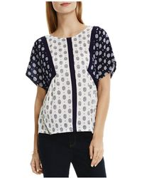 Two By Vince Camuto - Two By Contrast Foulard Print Top - Lyst