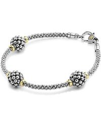 Lagos - Sterling Silver Bracelet With Caviar Stations - Lyst
