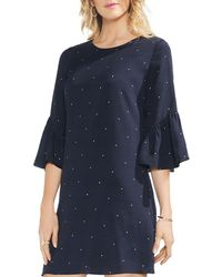Vince Camuto - Soho Bell Sleeve Pindot Dress - Lyst