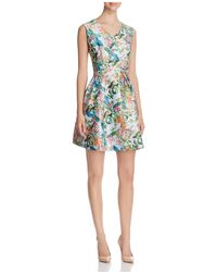 Finity - Floral Print Fit-and-flare Dress - Lyst