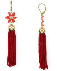 Kate Spade - Lovely Lillies Tassel Earrings - Lyst