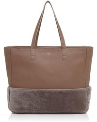 Facine - Shearling Carryall Tote - Lyst