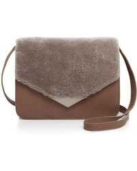 Facine - Medium Lock Shearling Shoulder Bag - Lyst