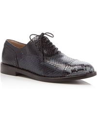 Marc Jacobs - Clinton Snake-embossed Lace Up Oxfords - Lyst