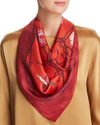 Ferragamo - Grace Patchwork-print Silk Scarf - Lyst