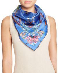 Kinloch - Caccia Birds Print Silk Scarf - Lyst