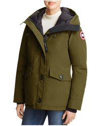 Canada goose 'rideau' Slim Fit Down Parka in Red (Classic Camo) | Lyst