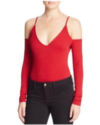 Cotton Candy - Cold Shoulder Bodysuit - Lyst