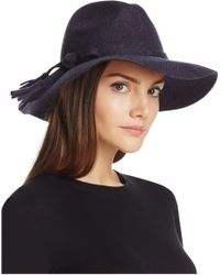 Bettina - Wide Brim Wool Fedora - Lyst