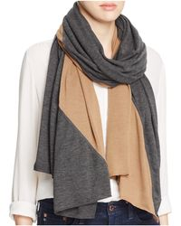 Donni Charm - Colorblocked Diagonal Knit Scarf - Lyst