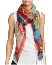 Larioseta - Floral Abstract Scarf - Lyst