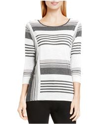 Two By Vince Camuto - Two By Vince Camtuo Striped Jersey Top - Lyst