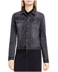 Two By Vince Camuto - Two By Vince Camtuo Faded Denim Jacket - Lyst