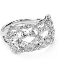 Nadri - Victoria Floral Ring - Lyst