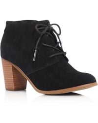 TOMS - Lunata Lace Up High Heel Booties - Lyst