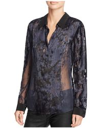 Chelsea and Walker - Contrast Collar Blouse - Lyst