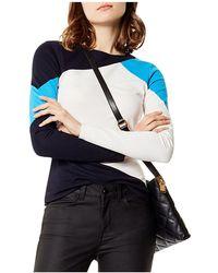 Karen Millen | Color-block Jersey Top | Lyst
