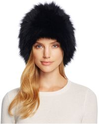 Loeffler Randall - Tall Fox Fur Hat - Lyst