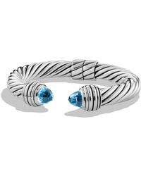 David Yurman - Cable Classics Bracelet With Blue Topaz - Lyst