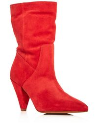 Kenneth Cole - Women's Labella Suede High-heel Booties - Lyst