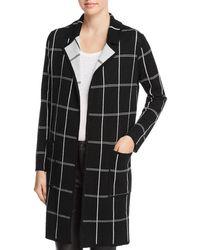 Minnie Rose - Reversible Windowpane Sweater Coat - Lyst