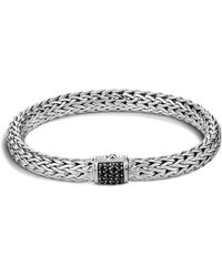 John Hardy - Classic Chain Sterling Silver Lava Medium Bracelet With Black Sapphire - Lyst