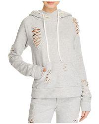 Alo Yoga - Distressed Hooded Sweatshirt - Lyst
