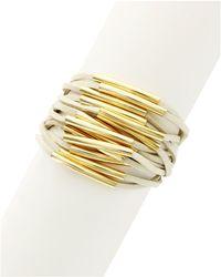 Sparkling Sage - Faux Leather Multi-strand Bracelet - Compare At $72 - Lyst