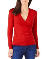 Phase Eight - Wilma Faux Wrap Top - Lyst