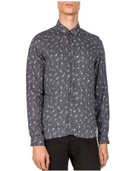 The Kooples   Guitar Notes Slim Fit Button-down Shirt   Lyst