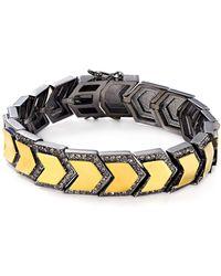 Botkier - Two Tone Chevron Link Bracelet - Lyst