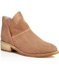 Eileen Fisher - Leaf Perforated Nubuck Leather Booties - Lyst