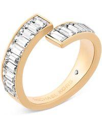 Michael Kors - Baguette Crystal Bypass Ring - Lyst
