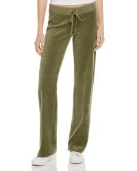 Juicy Couture - Original Flare Velour Pants In Aubergine - 100% Bloomingdale's Exclusive - Lyst