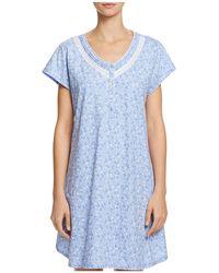 Eileen West - Floral Sleepshirt - Lyst