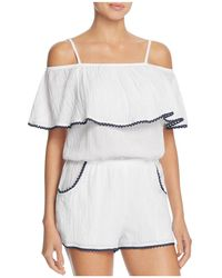 Becca - Inspired Off The Shoulder Swim Cover-up Romper - Lyst
