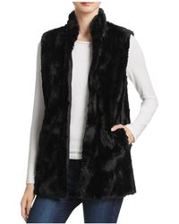 Jack BB Dakota - Barlett Swirl Textured Faux Fur Vest - Lyst
