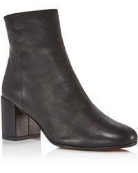 Vince - Blakely Leather Block Heel Booties - Lyst