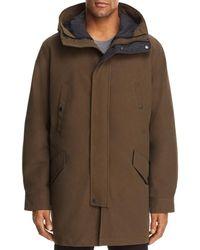 Cole Haan - Waterproof Three-in-one Hooded Coat - Lyst