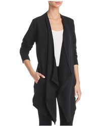 Donna Karan - New York Draped Open-front Cardigan - Lyst