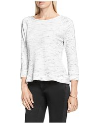 Two By Vince Camuto - Space Dye Terry Sweatshirt - Lyst