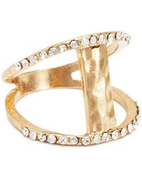 Catherine Malandrino - Double Pavé Bar Ring - Compare At $28 - Lyst