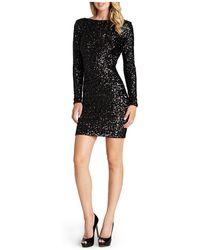 Dress the Population - Lola V-back Sequin Dress - Lyst
