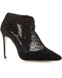 Brian Atwood - Women's Vain Mesh & Suede Pointed Toe Pumps - Lyst