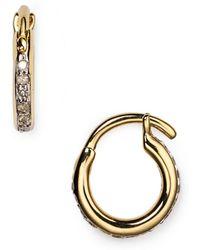 Adina Reyter | Pavé Huggie Hoop Earrings | Lyst