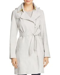 Vince Camuto - Asymmetric Front Belted Trench Coat - Lyst