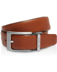 Ted Baker - Karmer Reversible Leather Belt - Lyst