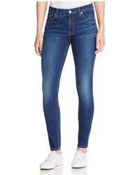 7 For All Mankind - B(air) Skinny Ankle Jeans In Duchess - Lyst
