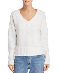 ATM - Chenille V-neck Sweater - Lyst