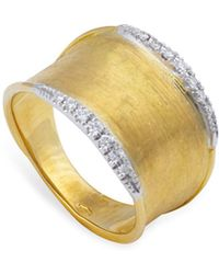 Marco Bicego - 18k Yellow Gold Lunaria Diamond Ring - Lyst